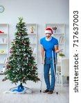 injured man celebrating... | Shutterstock . vector #717637003