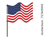 flag united states of america... | Shutterstock .eps vector #717645043