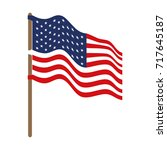 flag united states of america... | Shutterstock .eps vector #717645187