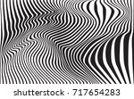optical art abstract background ... | Shutterstock .eps vector #717654283