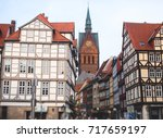 Stock photo beautiful summer view of hannover old town germany lower saxony 717659197