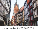 Stock photo beautiful summer view of hannover old town germany lower saxony 717659317