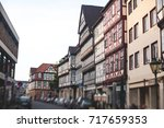 Stock photo beautiful summer view of hannover old town germany lower saxony 717659353