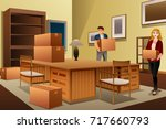 a vector illustration of young... | Shutterstock .eps vector #717660793
