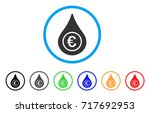 euro liquid drop rounded icon.... | Shutterstock .eps vector #717692953