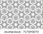 ornament with elements of black ... | Shutterstock . vector #717693073