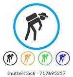 gentleman porter icon. vector...   Shutterstock .eps vector #717695257