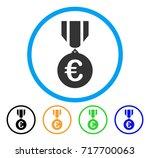 euro honor medal icon. vector... | Shutterstock .eps vector #717700063