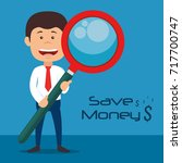 saving money concept  | Shutterstock .eps vector #717700747