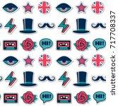 seamless british trendy pattern | Shutterstock .eps vector #717708337
