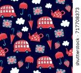 london vector childish pattern | Shutterstock .eps vector #717708373