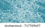 detailed vector map of dublin ... | Shutterstock .eps vector #717709657