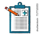 medical order with pencil... | Shutterstock .eps vector #717710353