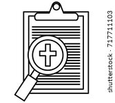 medical order with magnifying... | Shutterstock .eps vector #717711103