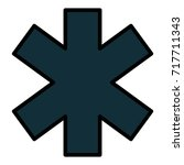 cross medical isolated icon | Shutterstock .eps vector #717711343