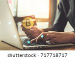 internet banking network and...   Shutterstock . vector #717718717