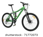 Green Bike Detail Isolated On...