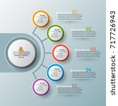 vector abstract 3d paper... | Shutterstock .eps vector #717726943