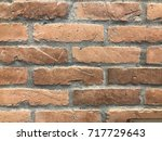 red brick wall background | Shutterstock . vector #717729643