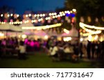 abstract blur people  food... | Shutterstock . vector #717731647