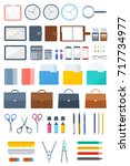 office and school supply flat... | Shutterstock .eps vector #717734977