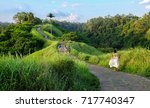 Small photo of Campuhan Ridge Walk at Sunset , Scenic Green Valley in Ubud Bali
