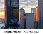 new york city skyline in... | Shutterstock . vector #717751453