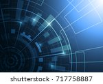 abstract technology futuristic... | Shutterstock .eps vector #717758887