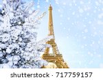 eiffel tower is the main... | Shutterstock . vector #717759157