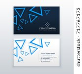 blue triangle business card... | Shutterstock .eps vector #717767173