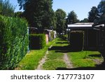view of german camping place... | Shutterstock . vector #717773107