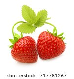 red berry strawberry isolated... | Shutterstock . vector #717781267