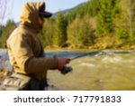 trout fishing in the mountain... | Shutterstock . vector #717791833