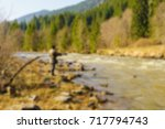 trout fishing in the mountain... | Shutterstock . vector #717794743