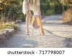 little baby learns to walk ... | Shutterstock . vector #717798007