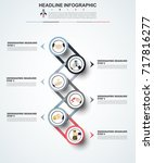 abstract infographics number... | Shutterstock .eps vector #717816277