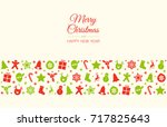 christmas card with wishes and... | Shutterstock .eps vector #717825643
