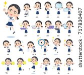 a set of school girl with... | Shutterstock .eps vector #717830407
