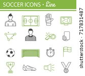 football icons. soccer and... | Shutterstock . vector #717831487
