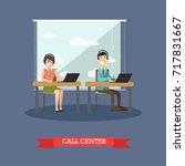 illustration of customer... | Shutterstock . vector #717831667