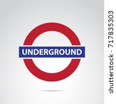underground icon isolated on... | Shutterstock .eps vector #717835303