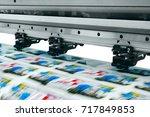 large printer format inkjet... | Shutterstock . vector #717849853