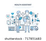 health assistant concept....   Shutterstock . vector #717851683