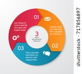 circle arrows for infographics. ... | Shutterstock .eps vector #717856897