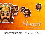 illustration of raavana with... | Shutterstock .eps vector #717861163