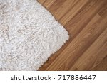 close up white carpet on... | Shutterstock . vector #717886447