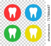 teeth. colored icons. vector...
