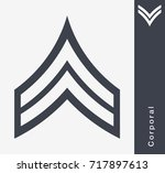 military ranks and insignia.... | Shutterstock .eps vector #717897613