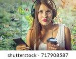 biometric verification. modern...   Shutterstock . vector #717908587