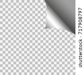 page curl with shadow on blank... | Shutterstock . vector #717908797